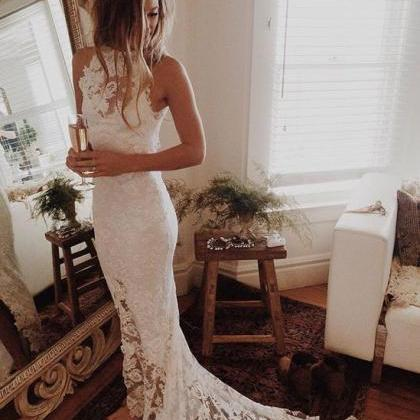 Romantic Boho Wedding Dresses,Beach..
