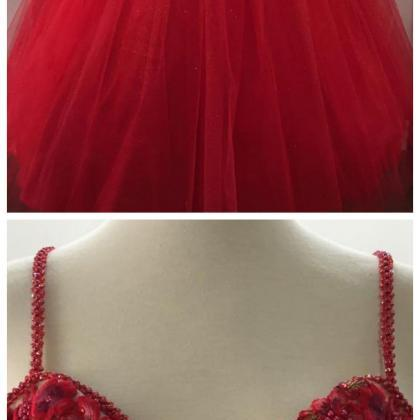 Sweetheart Tulle Long Prom Dress, T..