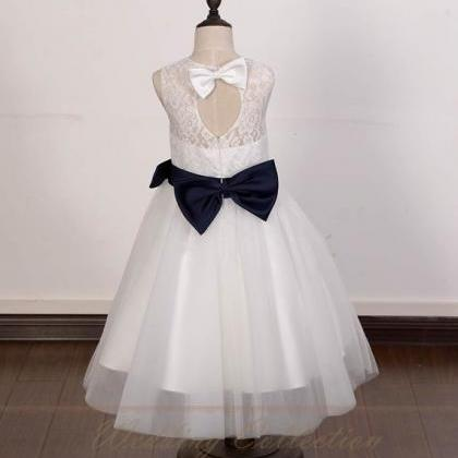 Ivory Lace Tulle Flower Girl Dress ..