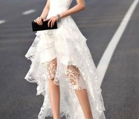 Layered Lace Prom Dr..