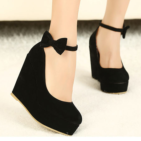 Wedges Black Suede Ankle Strap Pumps on Luulla e26cdf3e2727