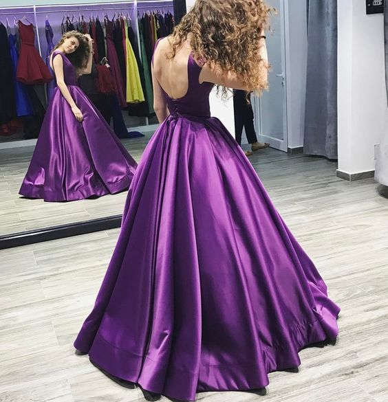 O-Neck Satin A-Line Prom Dresses,Long Prom Dresses,Cheap Prom Dresses, Evening Dress Prom Gowns, Formal Women Dress,Prom Dress