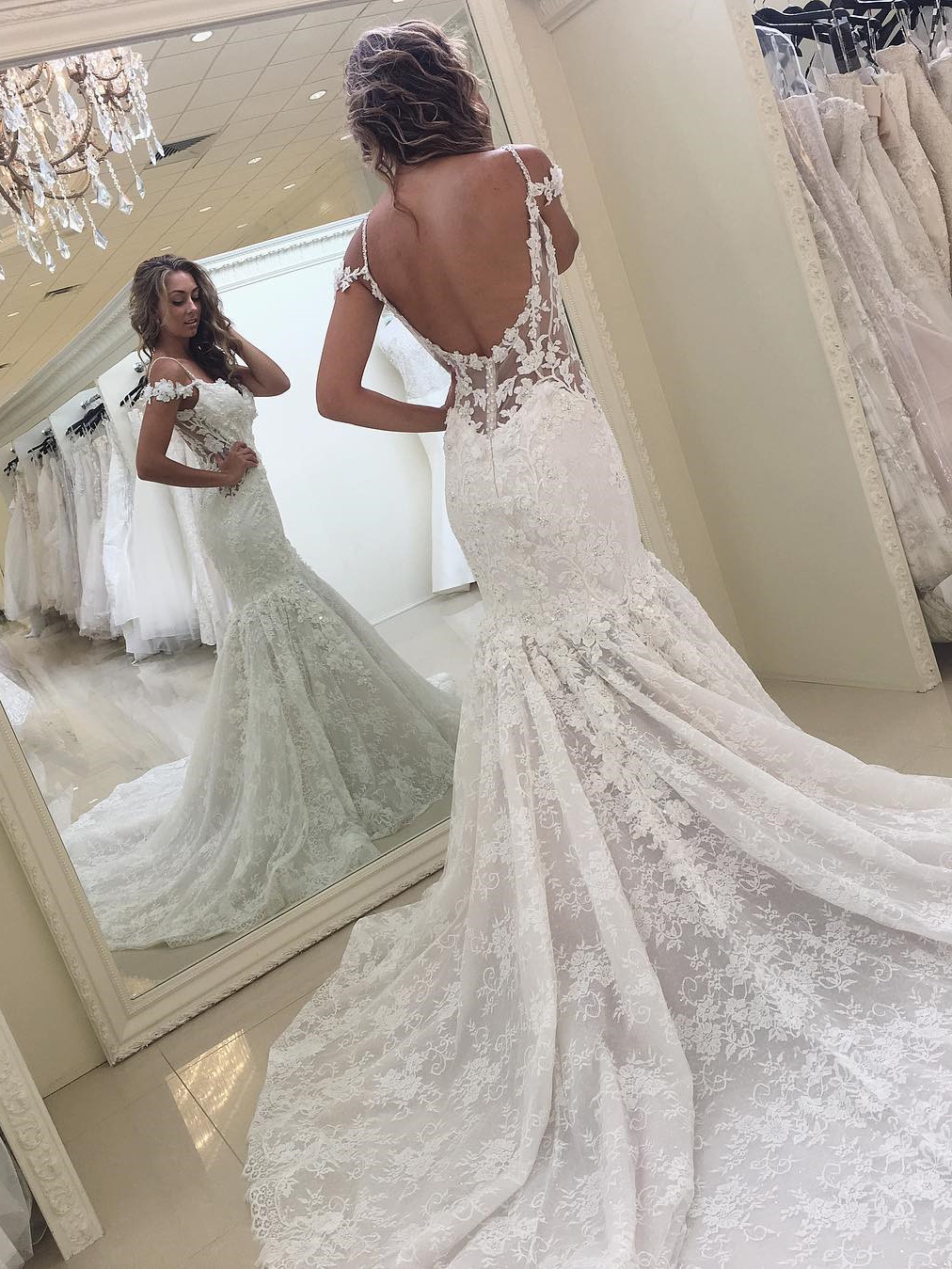 01f3afdbeb9 Sexy Lace Wedding Dresses with Mermaid Lace Wedding Dresses prom dresses