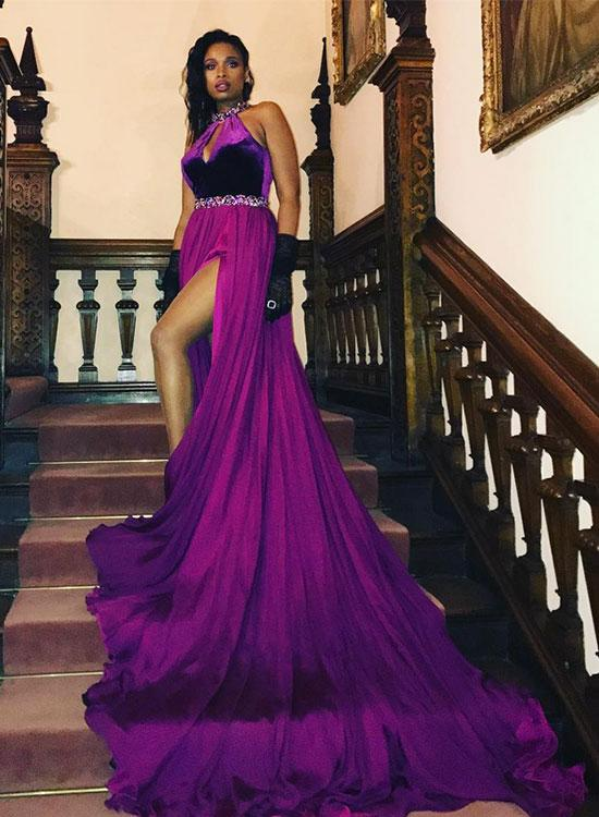 7be8ca19711e5 Stylish Purple Long Prom Dresses, Purple Evening Dresses on Luulla