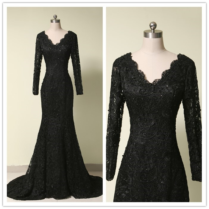 Charming Prom Dressfull Sleeve Evening Dressformal Evening Gown
