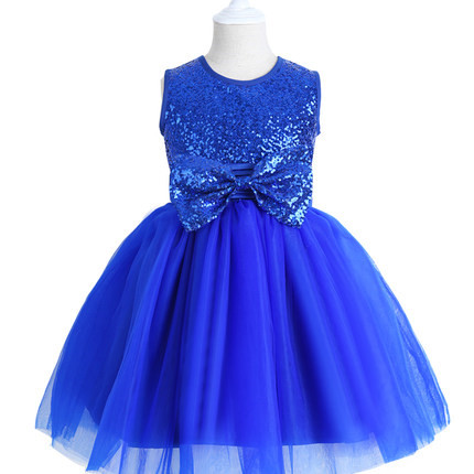 2015 New Marrylove tulle Girls Princess Skirt Dress royalblue Flower Girl Dress Costumes Children Children's Wear Dress