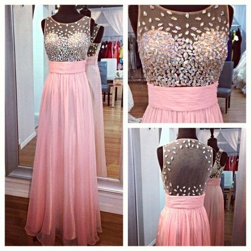 Pretty Light Pink Beadings Prom Gowns Pink Prom Dress 2016 Prom ...
