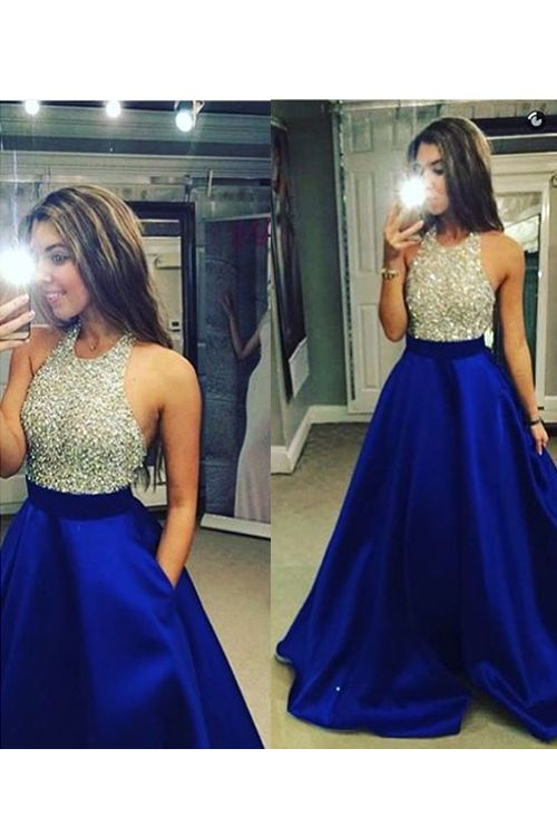 944a13656a95 Hot Sale Prom Dress,Charming Prom Gowns,Beading Prom Dress ,A-Line Prom  Dress,Chiffon Prom Gows, Halter Evening Dress,Satin Prom Dress,Backless Formal  Dress ...