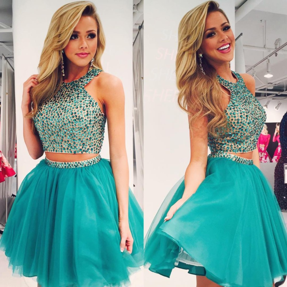 Two Piece Prom Dresses Hot Sale Homecoming Dresses Charming Prom