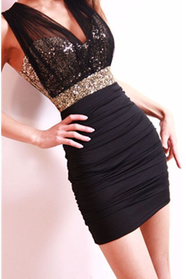 Black Mermaid Beading Homecoming Dresses,Sexy Short Homecoming Dress