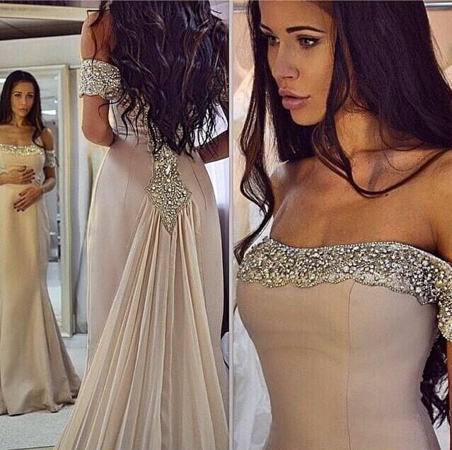 5e509948836f4 Champagne Sequin Long Prom Dress for Teens, Unique Evening Dress, Long  Evening Dress, Elegant Formal Dress, Modest Prom Dress Long