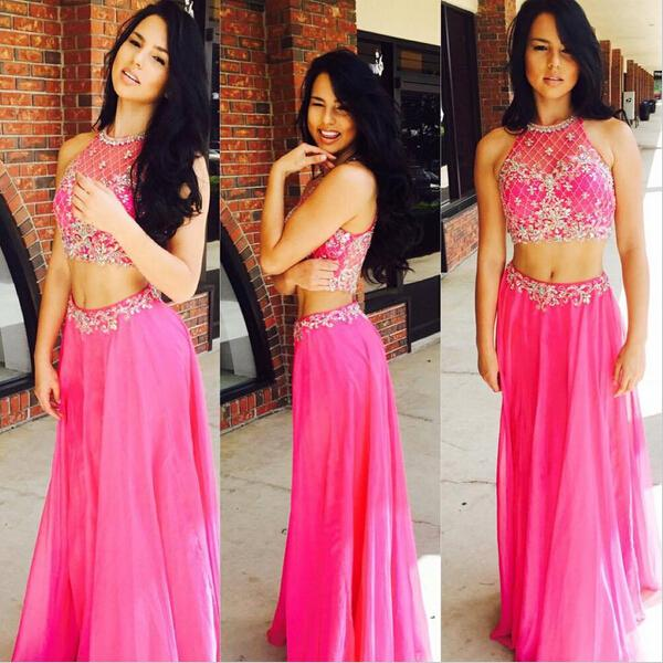 2 Piece Prom Gowntwo Piece Prom Dressespink Evening Gowns2 Pieces