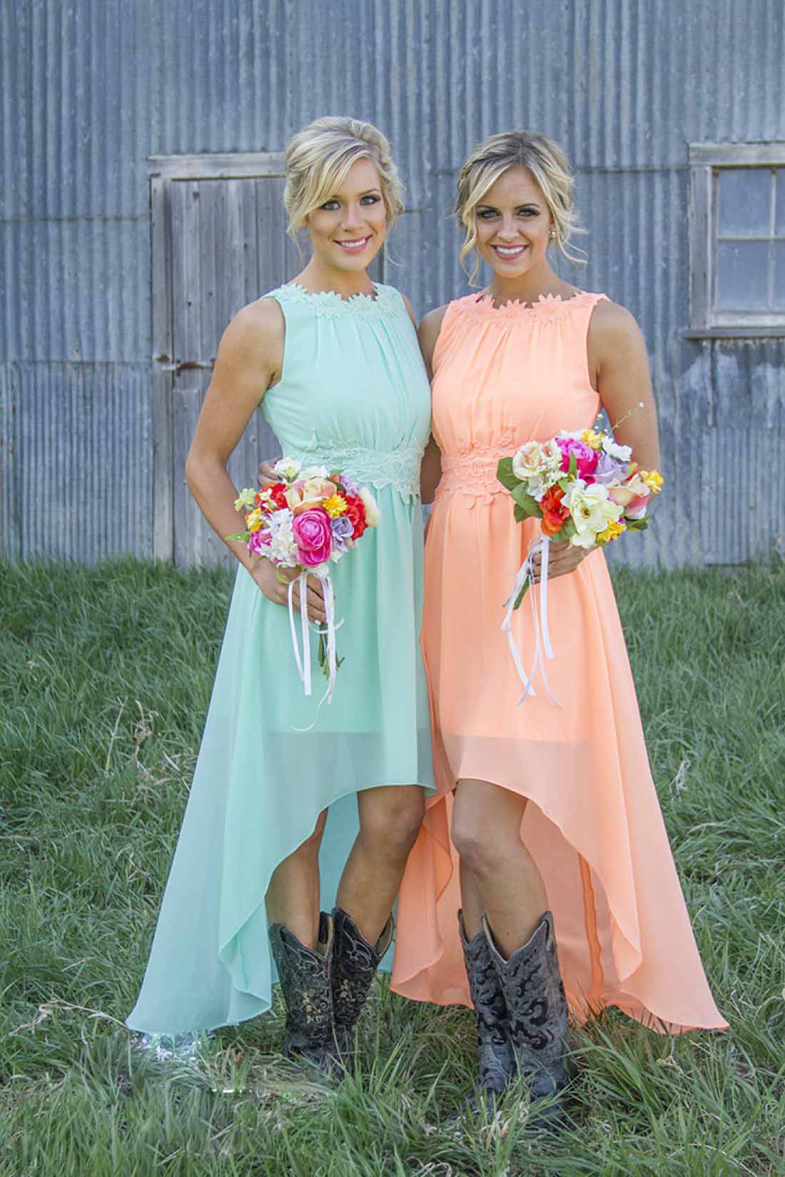 High Low Bridesmaid Dresses For 2016 Summer Fall ca76ae498f35