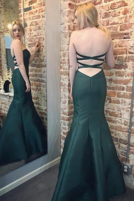 Charming Prom Dress,Mermaid Prom Dresses ,Sexy Evening Dress, Open Back Evening Gowns