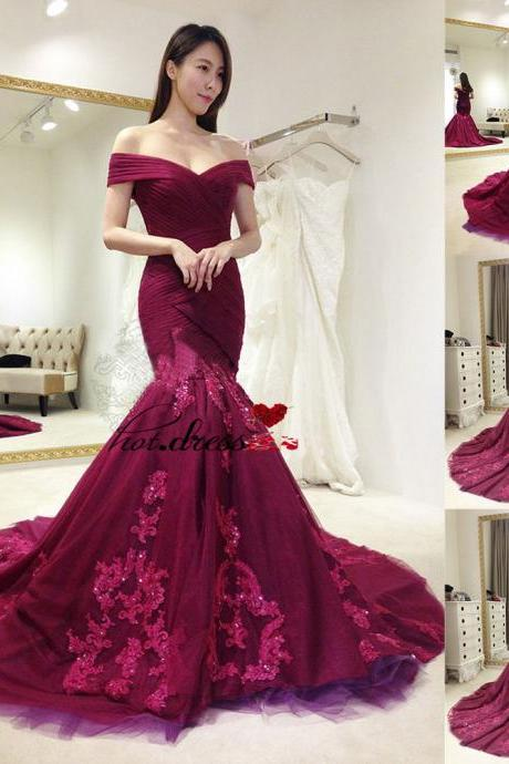 2017 Mermaid Formal Prom Party Gown Wedding Bridesmaid Evening Dress