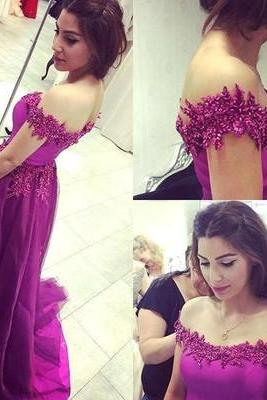 Shoulder Prom Dress,A-Line Prom Dress,Newest Prom Dress