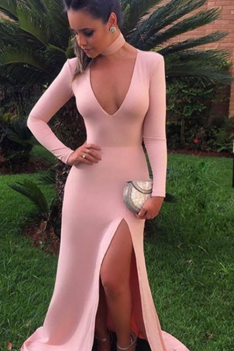 2017,High Slit Prom Dresses,Evening Dresses for Women