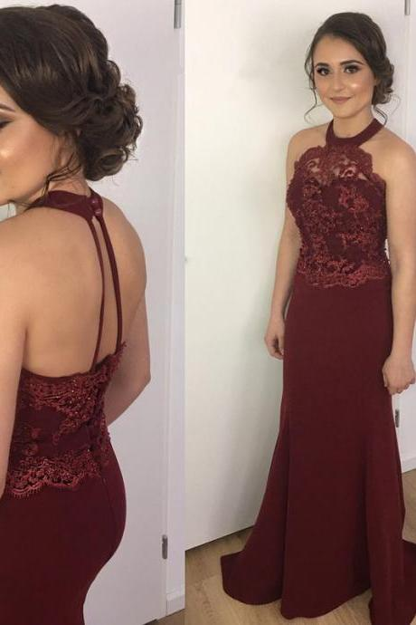 2018 New Arrival O-Neck A-Line Prom Dresses,Long Prom Dresses,Cheap Prom Dresses, Evening Dress Prom Gowns, Formal Women Dress,