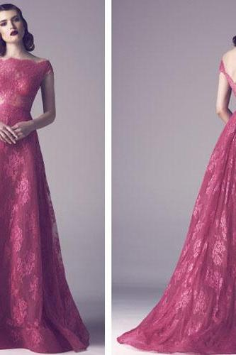 long prom dress, burgundy prom dress, lace prom dress, vintage prom dress, A-line prom dress, evening dress gown, ball gown,