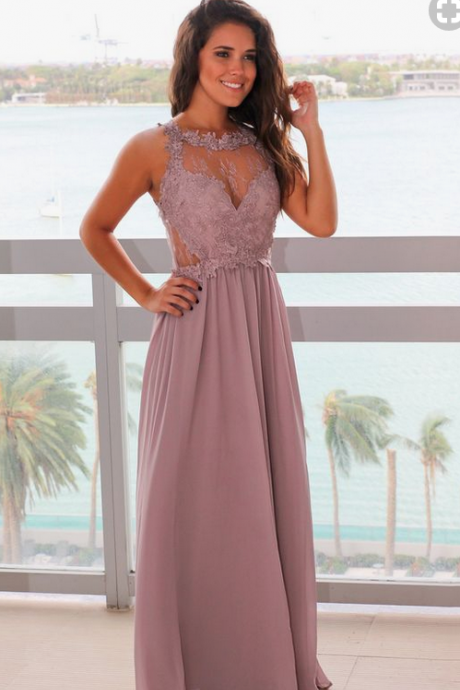 Gray Maxi Dress with Lace Top from Saved by the Dress Boutique. Perfect maxi dress in lovely Taupe Gray color with lace top. Perfect special occasion dress! evening dresses