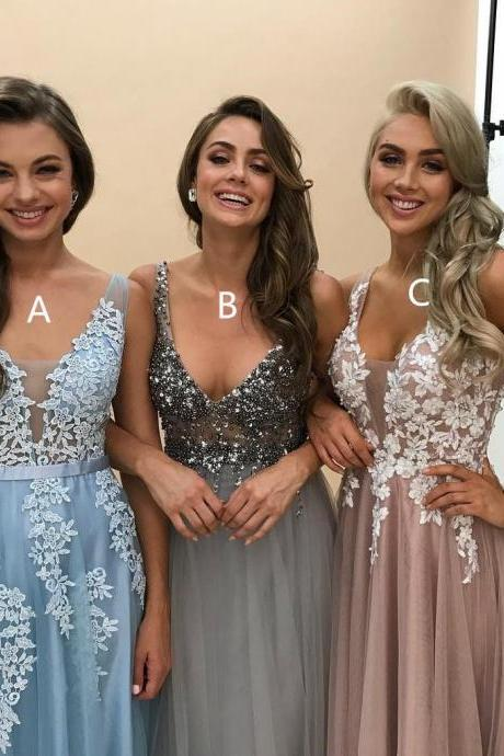 Charming Prom Dress, Sexy Sleeveless Prom Dresses, Evening Party Dress, Long Prom Dresses