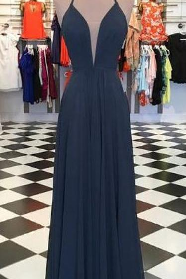 Simple A-line Floor Length Prom Dress ,Formal Dresses,Wedding Party Dress