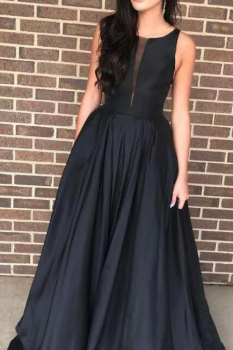 elegant black long prom dress party dress formal evening dresses
