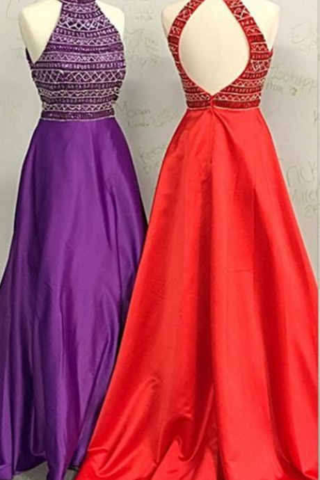 A strapless cocktail dress and a sleeveless evening gown.