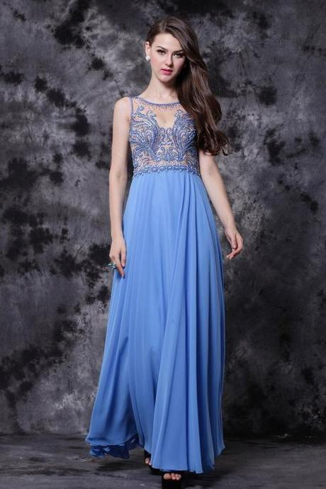 CHIC A-LINE PROM DRESSES ANKLE-LENGTH MODEST CHEAP PROM DRESS WITH BEADING