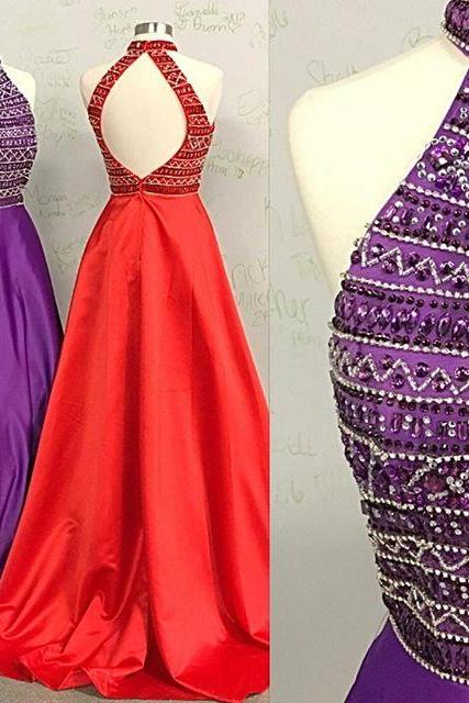 Halter Prom Dresses with Open Back