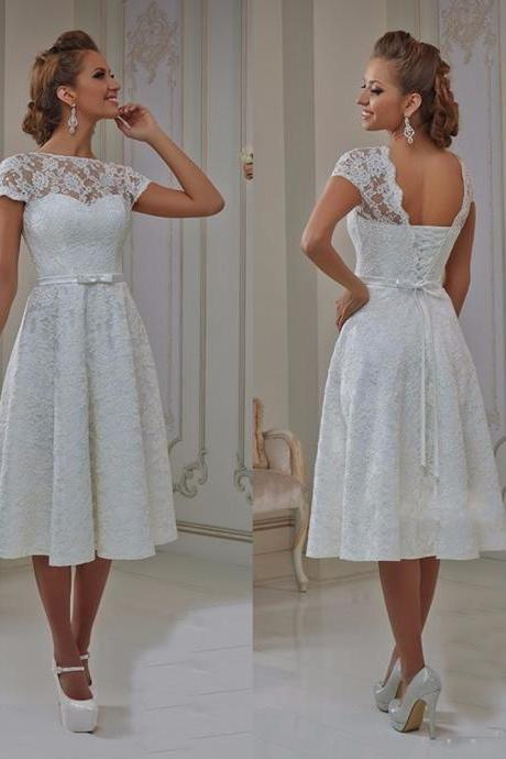 Vintage Lace Wedding Dresses Prom Dresses,Formal Dresses, Evening Dresses