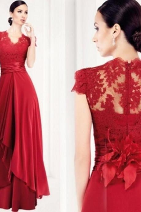 Red prom dress, prom dresses long prom dresses, long dresses prom,chiffon prom gown