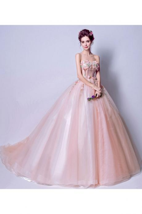 PINK, BLUSH WEDDING DRESSES SEXY EVENING DRESSES