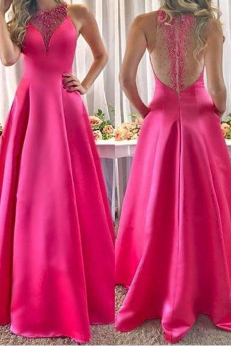 Off the Shoulder Black Ball Gown Prom DressFuchsia Evening Dresses A Line Beaded Sequined Long Satin Pageant Gowns Prom Dress Sheer Backless Custom Made Arabic Robes