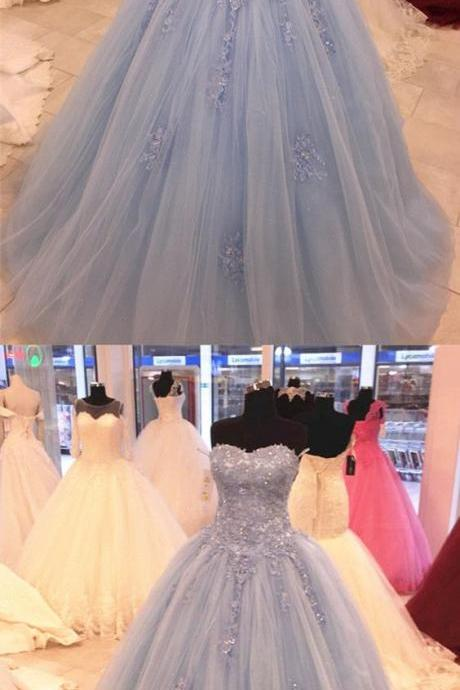 Stylish Lace Sweetheart Tulle Ball Gowns Quinceanera Dresses,Sexy Ball Gown,Fashion Prom Dress