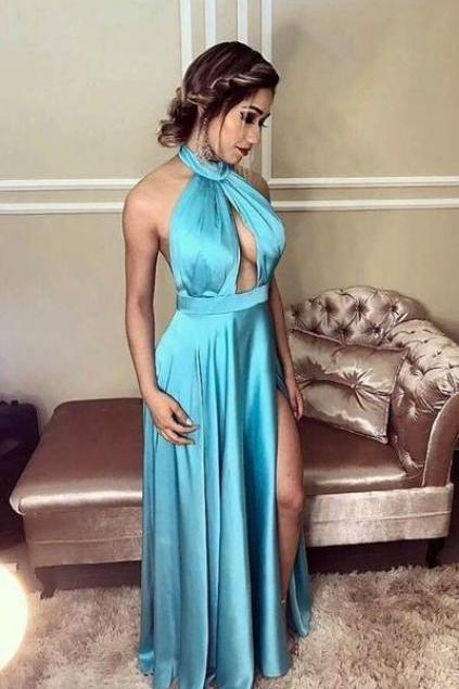 slit prom dress,elegant bridesmaid dress,prom gowns ,floor length evening gowns,sexy ball gowns,