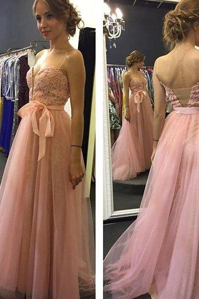 Charming Prom Dress, Sexy Prom Dresses, Tulle Pink Lace Homecoming Dress, Elegant Prom Dresses