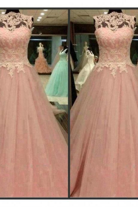 Charming Prom Dress,Sexy Prom Dress,Long Evening Dress,Ball Gown Tulle Prom Dress
