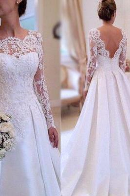 Wedding Dresses,Long Sleeves Wedding Dresses,Lace Wedding Dresses,Pretty Wedding Dresses