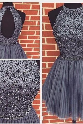 homecoming dress,short homecoming dress,gray homecoming dress,cheap homecoming dress, party prom dress,charming prom dresses