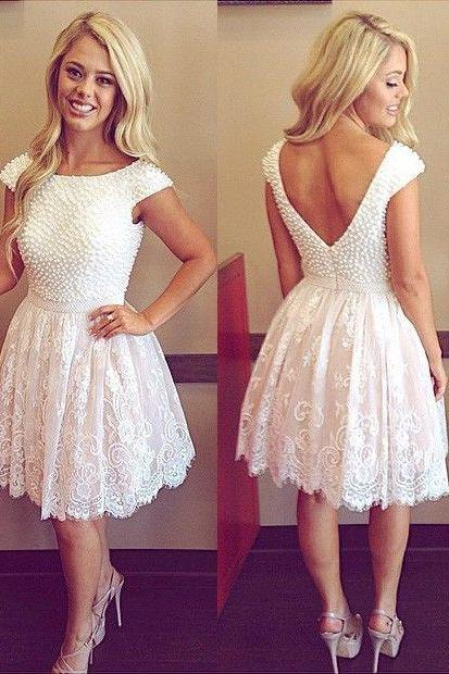 Homecoming dress, white homecoming dress, short homecoming dress, best homecoming dress, affordable homecoming dress, dresses for homecoming,ess, Chiffon Homecoming Dress On Sale