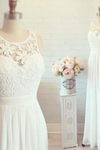 2016 White Simple Cheap Lon Lace Wedding Dresses,Elegant Prom Dresses,Long Evening Dresses,Cap Sleeves Prom Dress For Teens