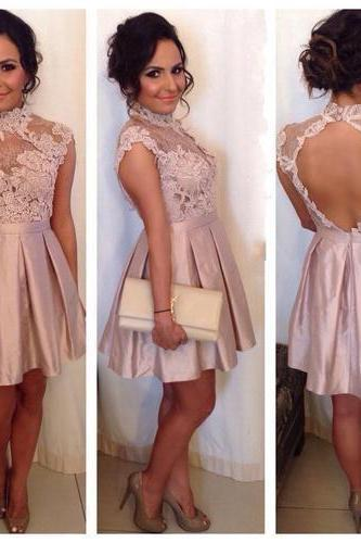 New Arrival Sexy Prom Dress,Backless Prom Dress,Prom Gown,Short Evening Dress