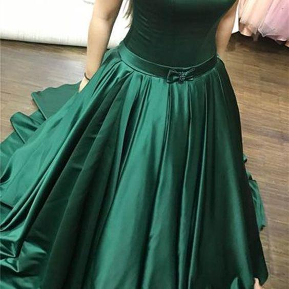 Charming Prom Dress,Satin Prom Dress,Strapless Evening Dress,Noble Prom Dress