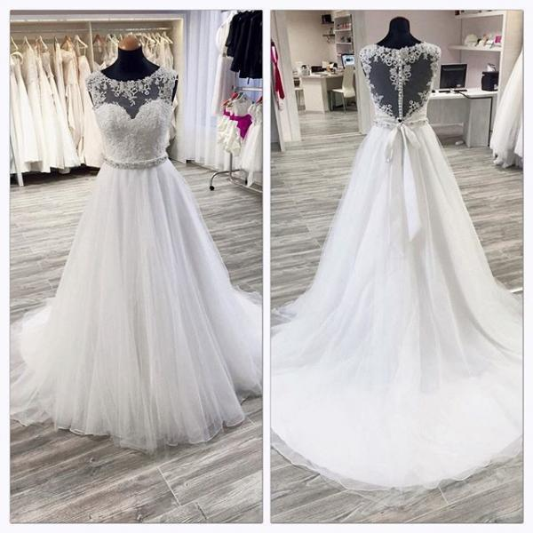Wedding Dress A-line Wedding Dress white Wedding Dress,Luxury Wedding Dress,Crystal Wedding Dress,Sweetheart Wedding Dress