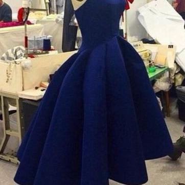 Classic High Low Prom Dresses,Prom Dress, Royal Blue Prom Dress,Evening dress