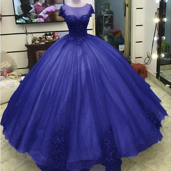Ball Gown Princess Prom Dresses Lace Appliqued Victorian Formal gowns for masquerade Ball