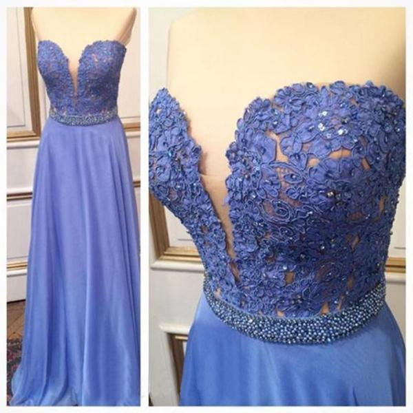 Custom Made High Quality A-Line Prom Dress,Charming Prom Gowns,Chiffon Graduation Dress,Sweetheart Evening Dress,Beading Lace Evening Dress,Noble Prom Dress,Hot Sale Formal Dress