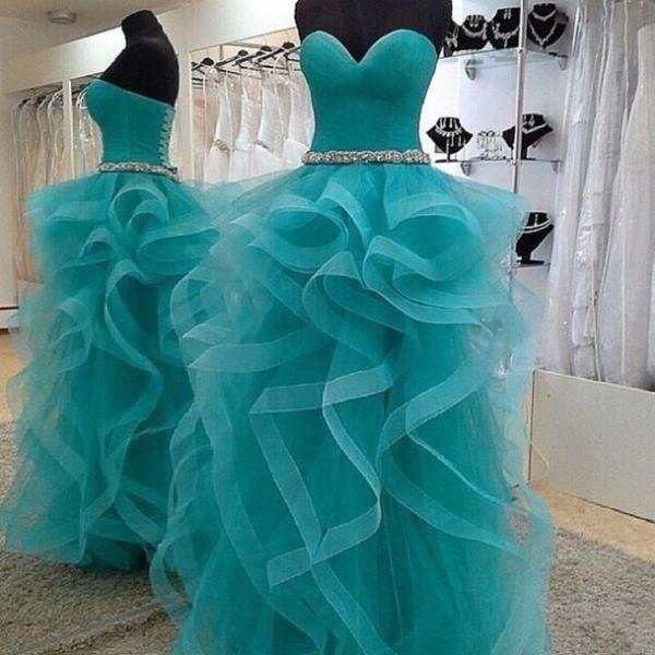 Evning Dresses AND PARTY DRESSES Charming Ruffle Tulle Prom Dresses, Party Dresses