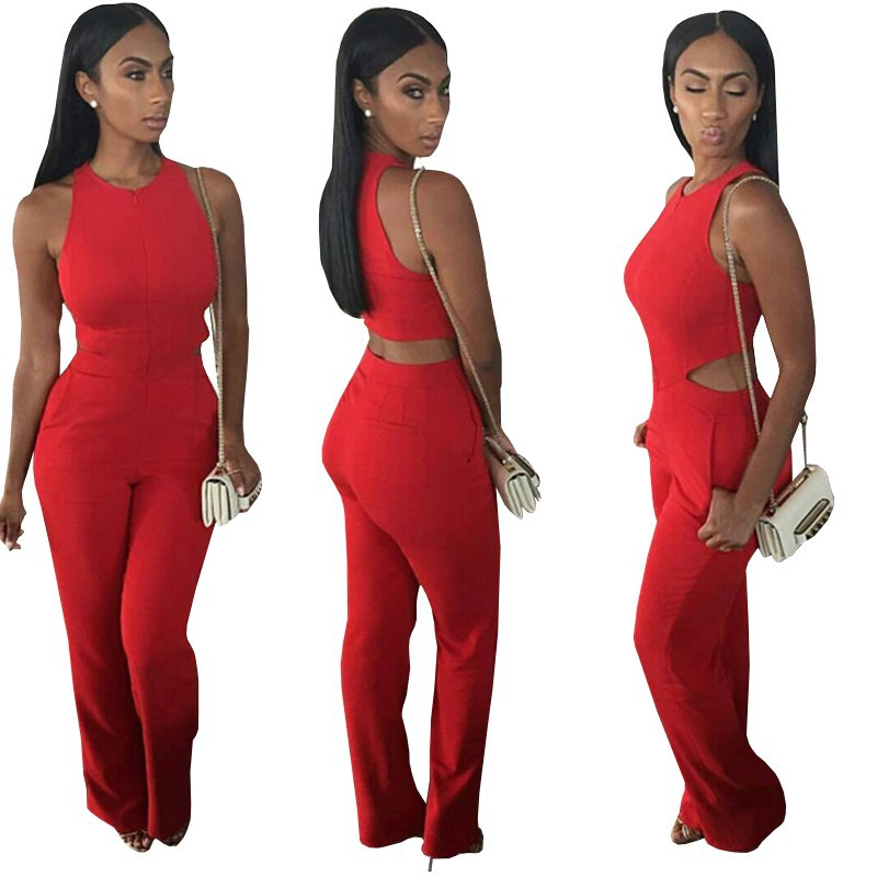 6ca9fa990820 Sexy Ladies Club Jumpsuit Dress Red Jumpsuit Color on Luulla